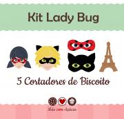 Kit de Cortadores de Biscoito Tema Lady Bug - Miraculous