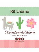 Kit de Cortadores de Biscoito Tema Lhama