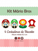 Kit de Cortadores de Biscoito Tema Mário Bros