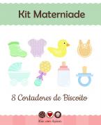 Kit de Cortadores de Biscoito Tema Maternidade ou Chá de Bebê (batizado)