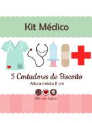 Kit de Cortadores de Biscoito Tema Médico