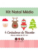 Kit de Cortadores de Biscoito Tema Natal (médio)