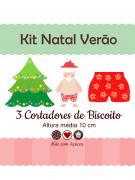 Kit de Cortadores de Biscoito Tema Natal Verão
