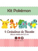 Kit de Cortadores de Biscoito Tema Pokémon