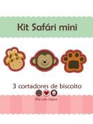 Kit de Cortadores de Biscoito Tema Safari