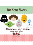 Kit de Cortadores de Biscoito Tema Star Wars (Guerra nas Estrelas)