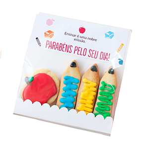 Biscoitos Decorados Envelope dia dos Professores