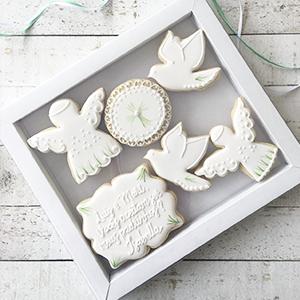 Caixa de Biscoitos Decorados Convite para Padrinhos