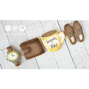 Caixa de Biscoitos Decorados Dia dos Pais