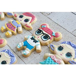 Conjunto de Biscoitos Decorados Boneca LOL - 6 unidades