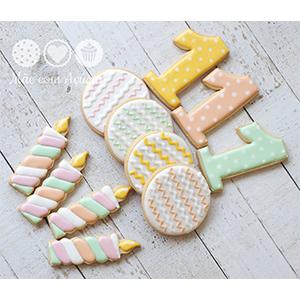 Conjunto de Biscoitos Decorados Festa de Aniversário - 6 unidades