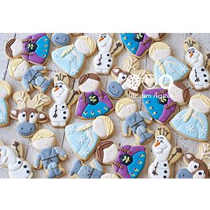Conjunto de Biscoitos Decorados Frozen - 10 unidades