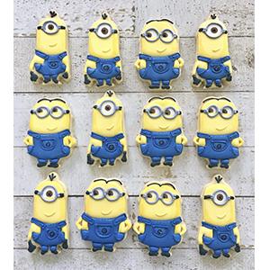 Conjunto de Biscoitos Decorados Minion - 6 unidades