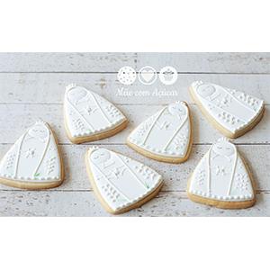 Conjunto de Biscoitos Decorados Nossa Senhora - 6 unidades