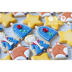 Conjunto de Biscoitos Decorados Pequeno Príncipe 8 unidades