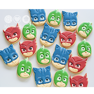 Conjunto de Biscoitos Decorados PJ Masks - 6 unidades