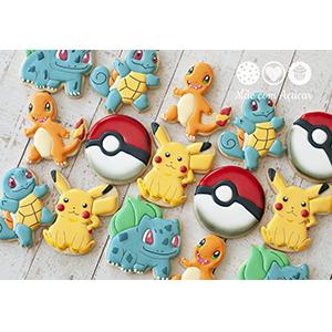 Conjunto de Biscoitos Decorados Pokémon - 10 unidades