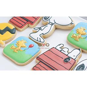 Conjunto de Biscoitos Decorados Snoopy - 8 unidades