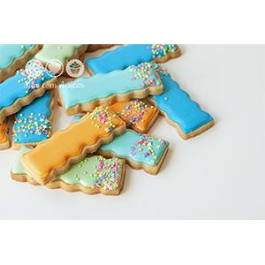 Conjunto de Biscoitos Decorados Sticks com Confeitos - 8 unidades