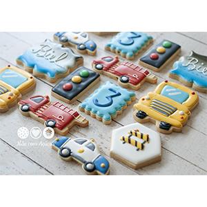 Conjunto de Biscoitos Decorados Transportes - 14 unidades