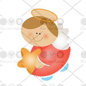 Cortador de Biscoito Anjo com Estrela de Natal