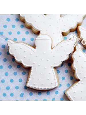 Cortador de Biscoito Anjo (Tema Batizado ou Chá de Bebê)