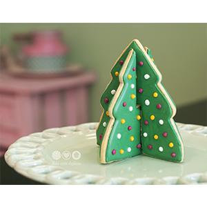 Cortador de Biscoito Árvore de Natal para montar - Conjunto com 2 peças individuais