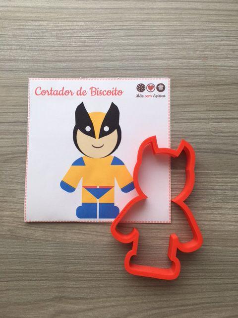 Cortador de Biscoito Batman ou Wolverine (Vingadores/ Avengers - Super Herói da Marvel)