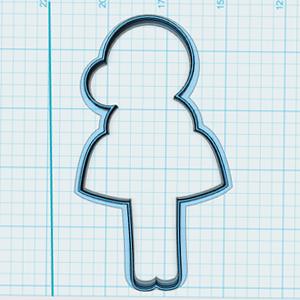 Cortador de Biscoito Boneca Bailarina 03 (Menina/ Bonequinha de vestido)