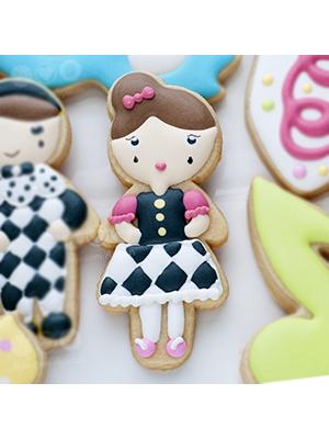 Cortador de Biscoito Boneca Bailarina 01 (Menina/ Bonequinha de vestido)