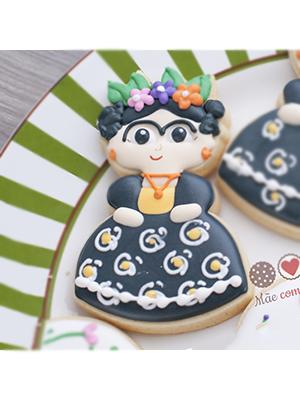 Cortador de Biscoito Boneca da Frida Kahlo (Bonequinha/ Menina de Vestido)