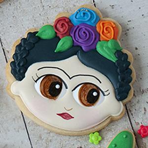 Cortador de Biscoito Boneca da Frida Kahlo Rosto