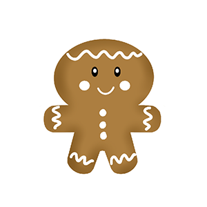 Cortador de Biscoito Boneco de Gengibre - Filho (Tema Família Ginger)