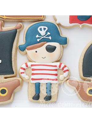 Cortador de Biscoito Boneco Pirata (Menino de Chapéu)