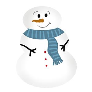 Cortador de Biscoito Bonequinho De Neve 02 (Tema Natal)