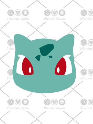 Cortador De Biscoito Bulbasaur (Rosto) (Tema Pokémon)