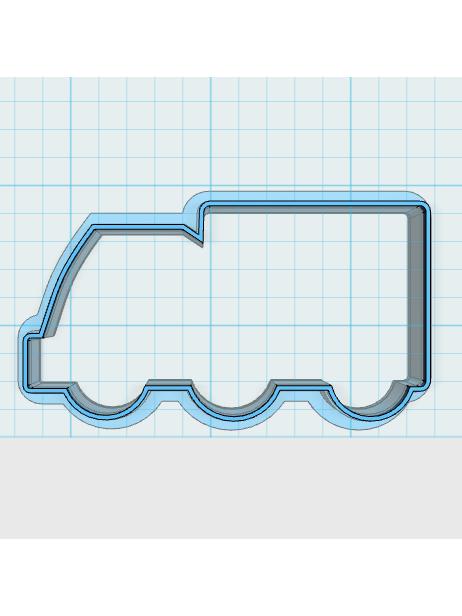 Cortador de Biscoito Caminhão (Tema Bombeiro)