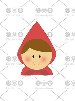 Cortador de Biscoito Chapeuzinho Vermelho (Rosto)