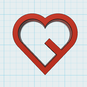 Cortador de Biscoito Coração cortado (encaixe na xícara)