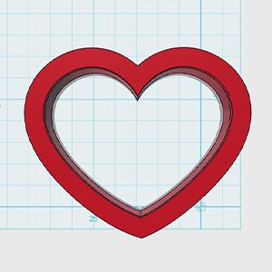 Cortador de Biscoito Coração Mini