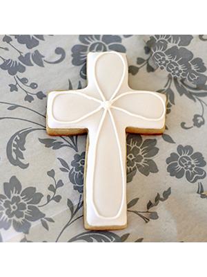 Cortador de Biscoito Cruz 02 (Tema Batizado/ Chá de Bebê ou Páscoa)