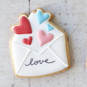 Cortador de Biscoito envelope de corações