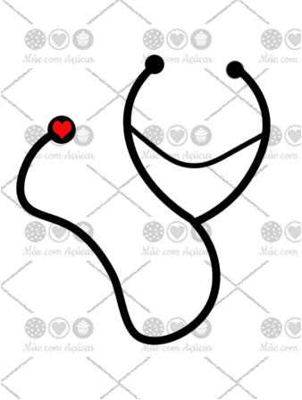 Cortador de Biscoito Estetoscópio (Tema Hospital ou Médico)