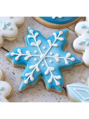 Cortador de Biscoito Floco de Neve 01 (Tema Frozen ou Natal)