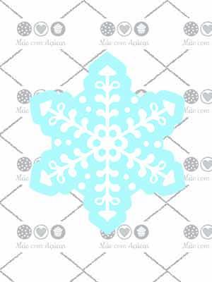 Cortador De Biscoito Floco de Neve 02 (Tema Frozen ou Natal)