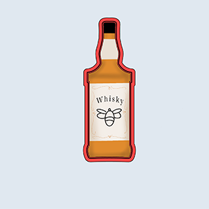 Cortador De Biscoito Garrafa de whisky (tema Chá Bar)
