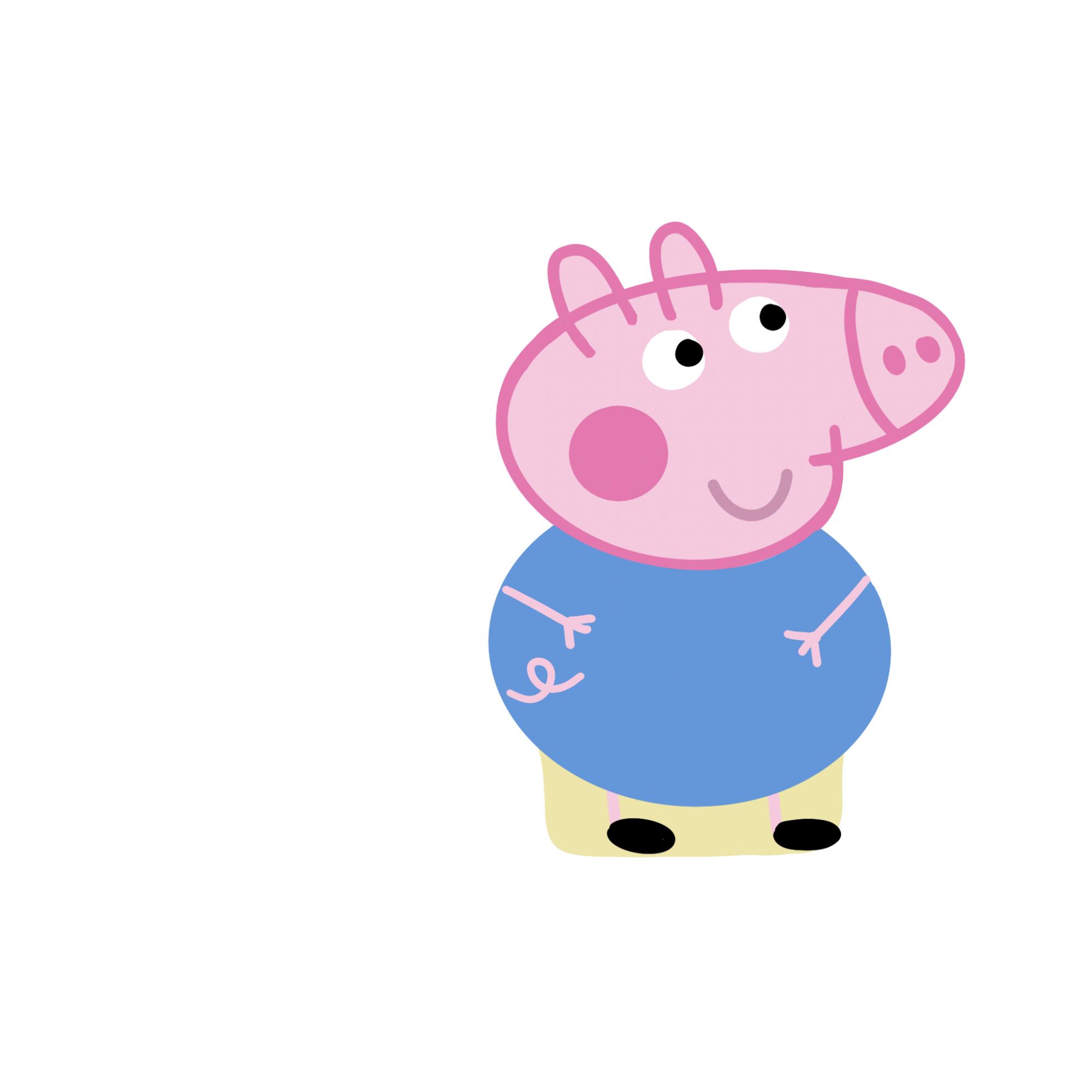 Cortador de Biscoito George Pig (Tema Peppa Pig)