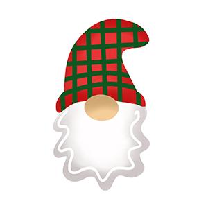 Cortador de Biscoito Gnomo de Natal - Rosto