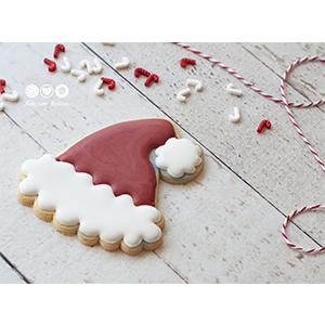 Cortador de Biscoito Gorro do Papai Noel  (Tema Natal)