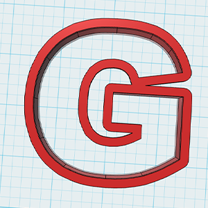 Cortador De Biscoito letra G
